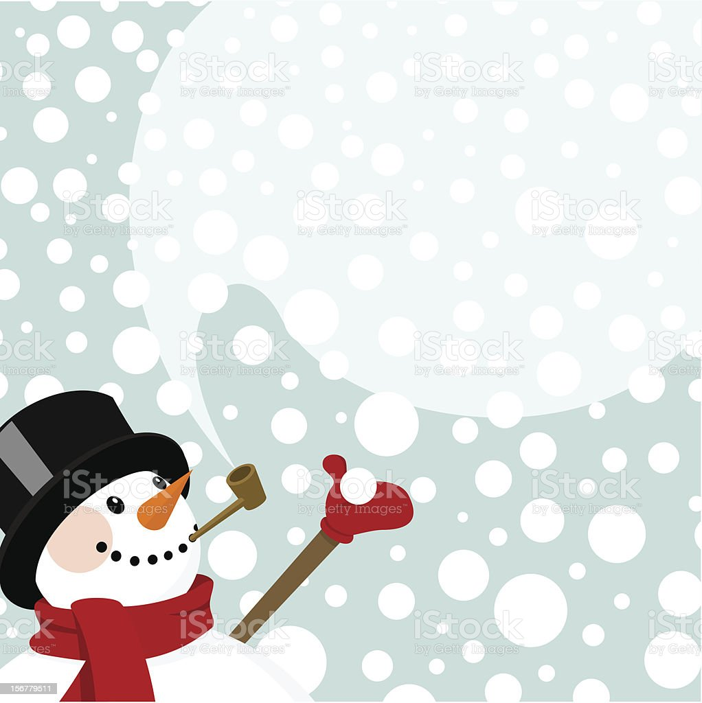 Snowman snow snowing happy cute invitation winter vector royalty-free stock vector art