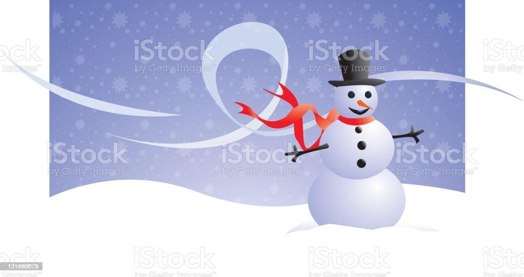 Snowman (vector) royalty-free stock vector art