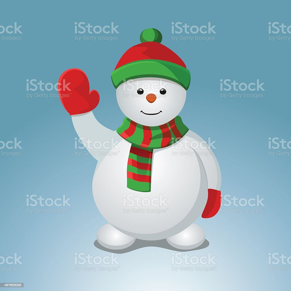 Snowman royalty-free stock vector art