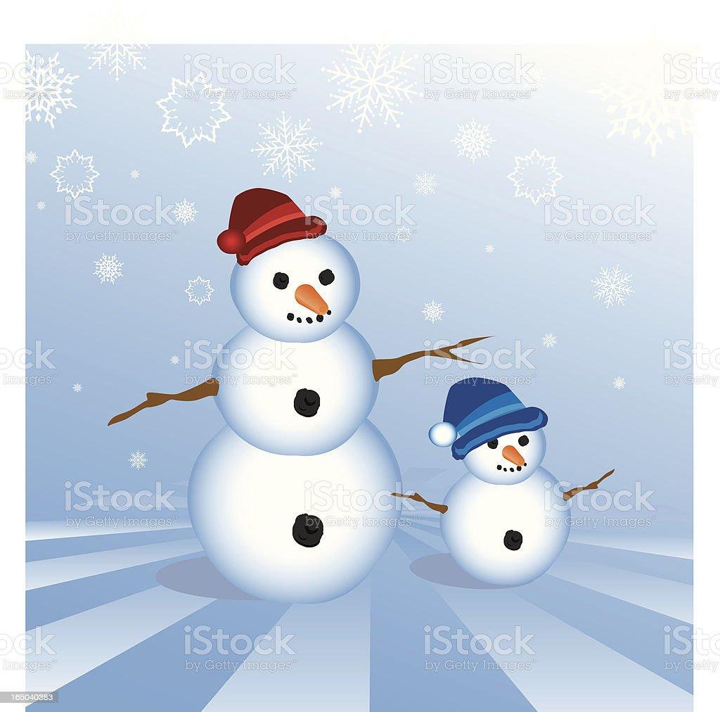 Snowmen royalty-free stock vector art