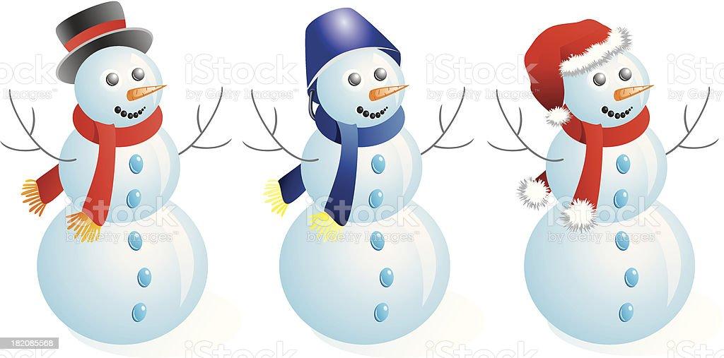 Snowmen. royalty-free stock vector art
