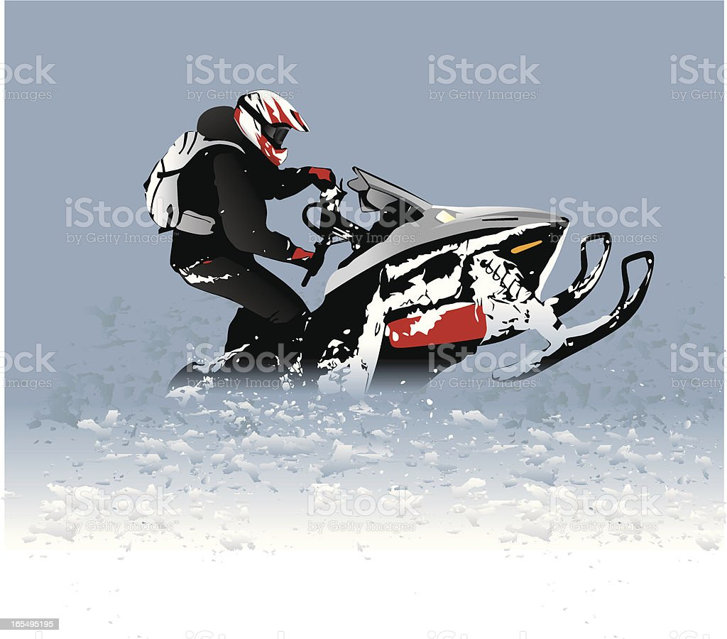 Snowmobile Catwalk vector art illustration