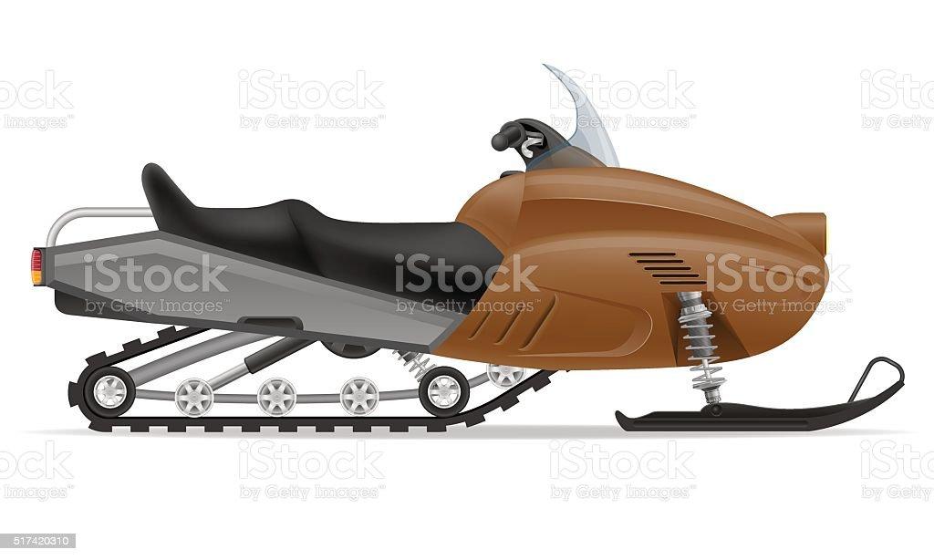 snowmobile for snow ride vector illustration vector art illustration