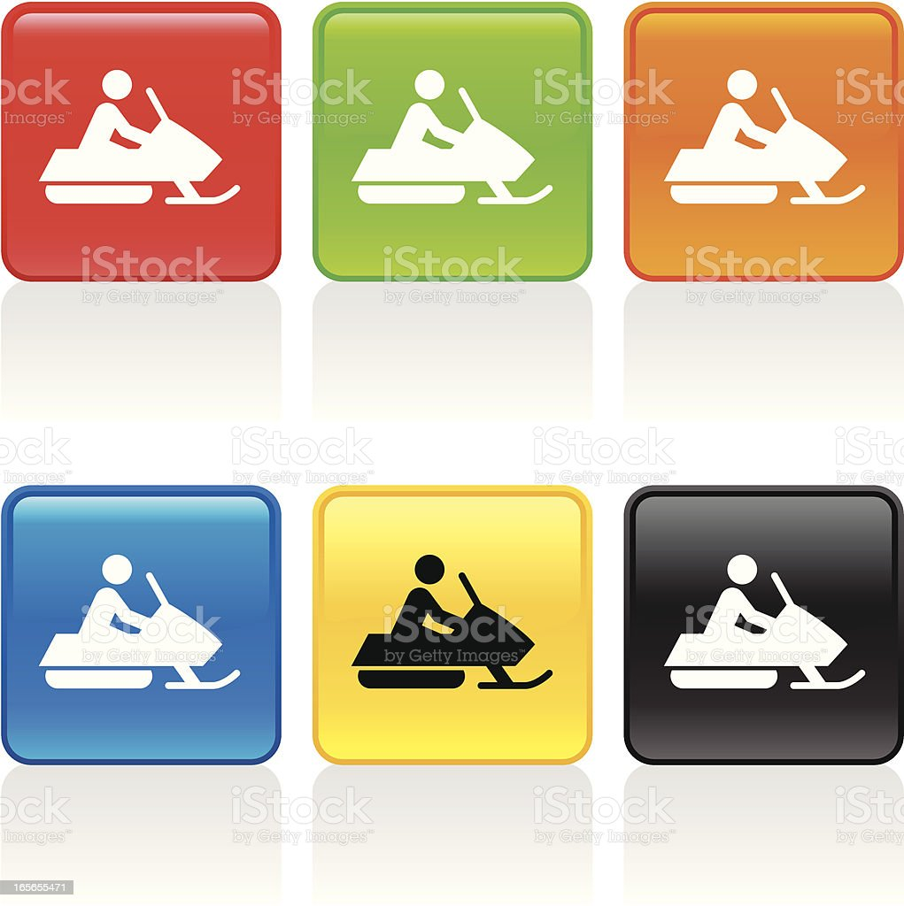 Snowmobile Icon royalty-free stock vector art