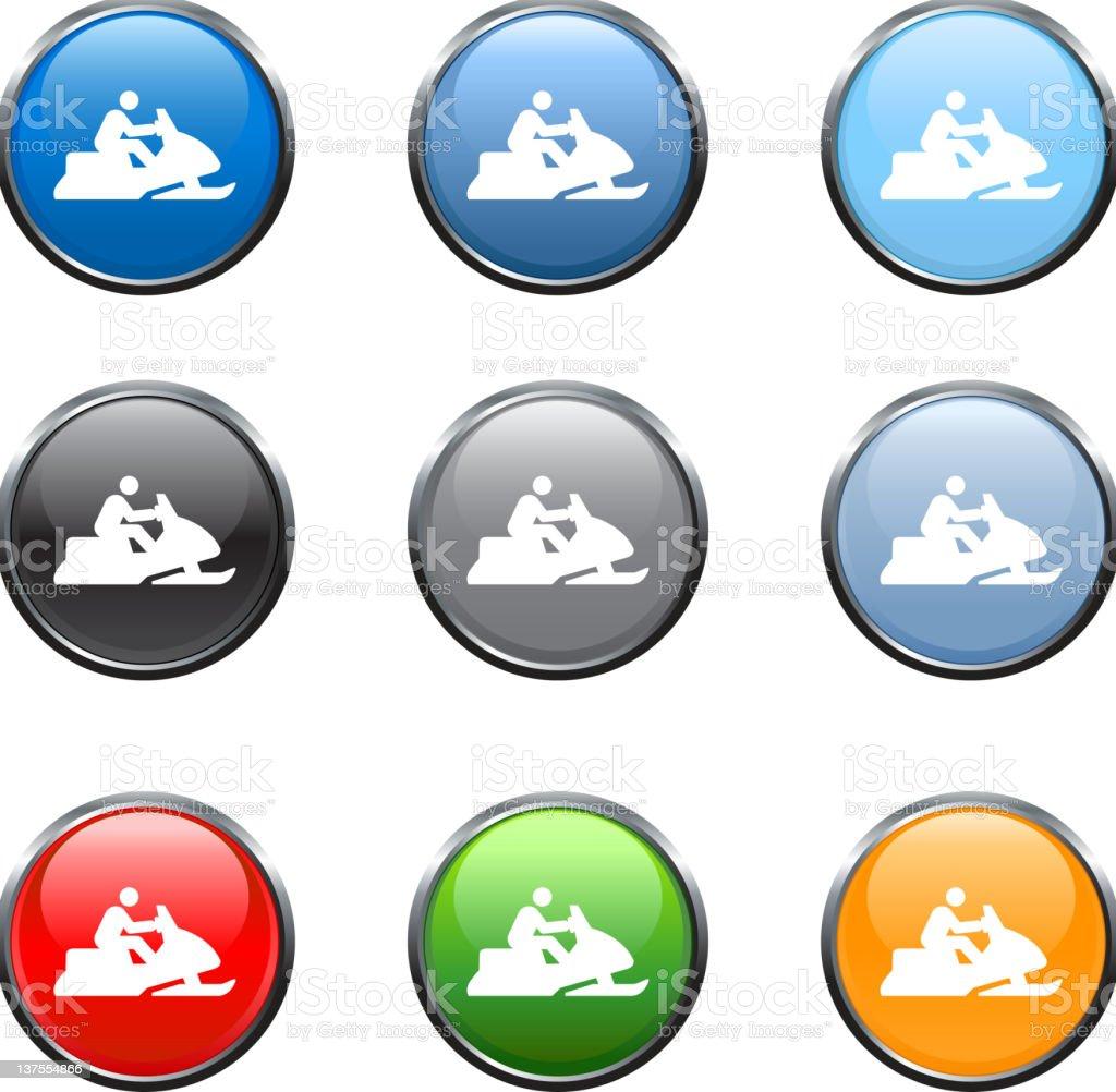 Snowmobile royalty free vector art in nine colors royalty-free stock vector art