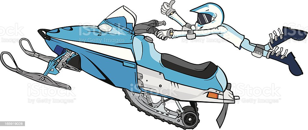 snowmobile royalty-free stock vector art