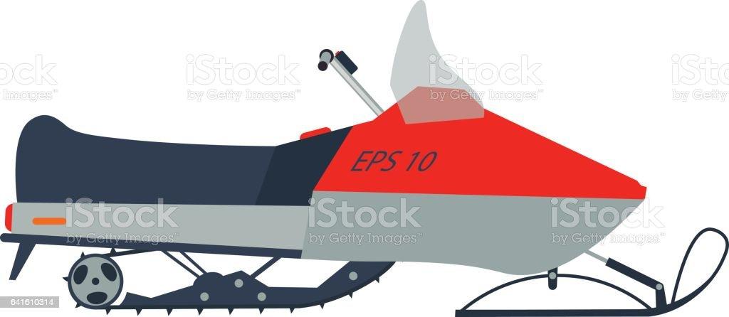 Snowmobile vector illustration vector art illustration