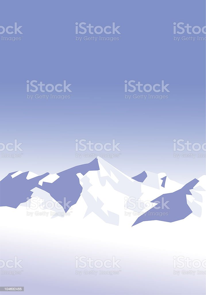 snow-mountains-background royalty-free stock vector art