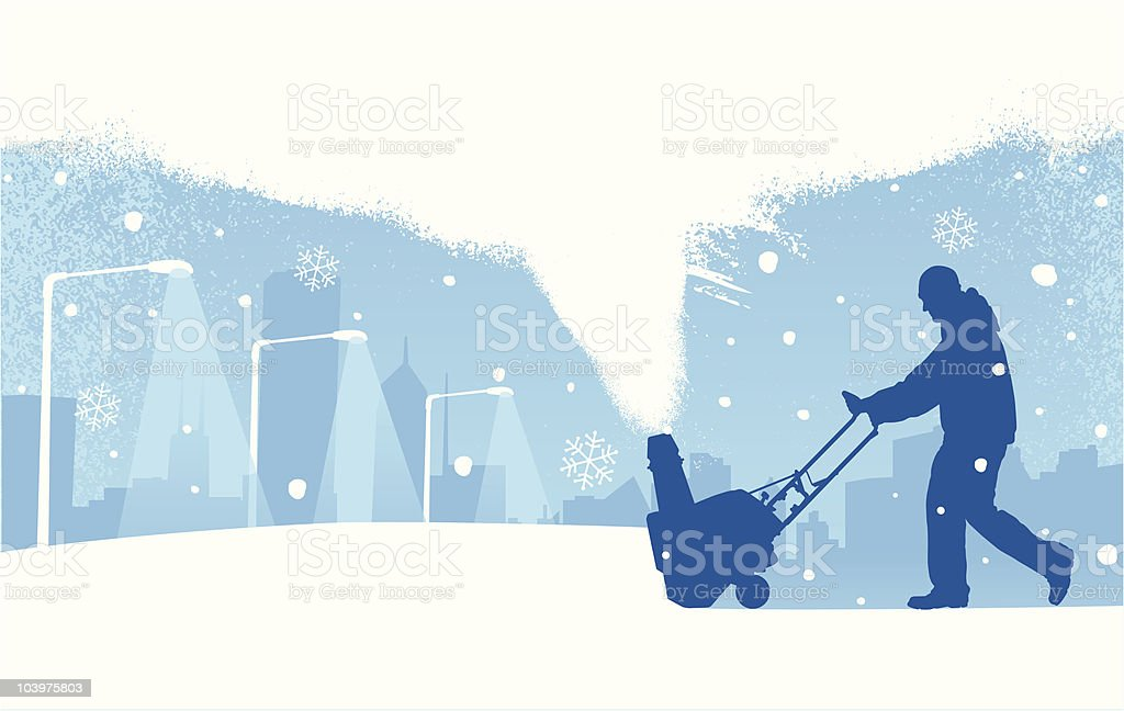 Snowstorm vector art illustration