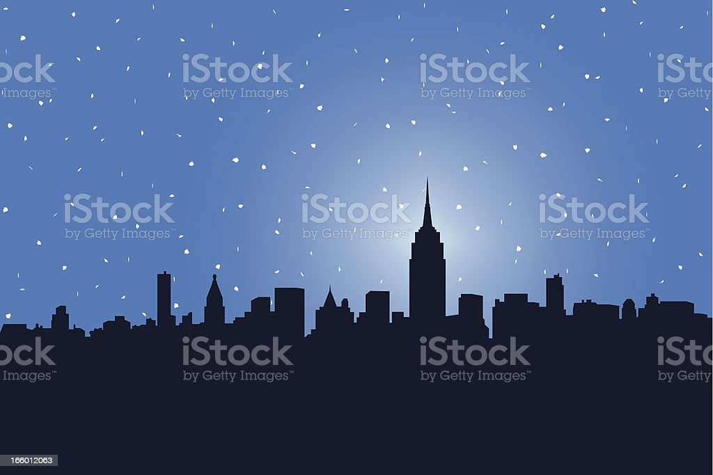 NYC Snowstorm royalty-free stock vector art