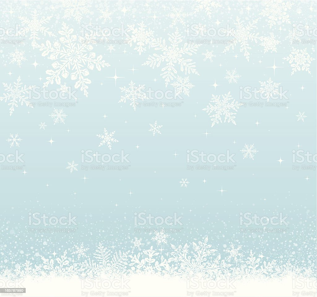 Snowy Background vector art illustration