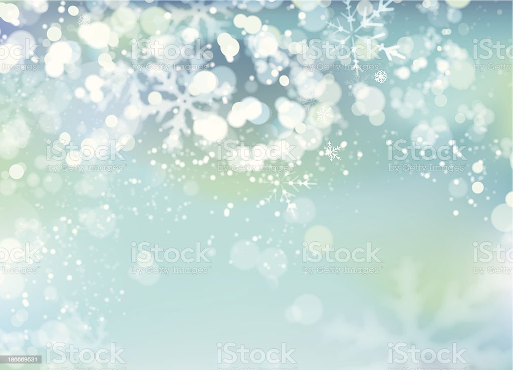 Snowy background royalty-free stock vector art