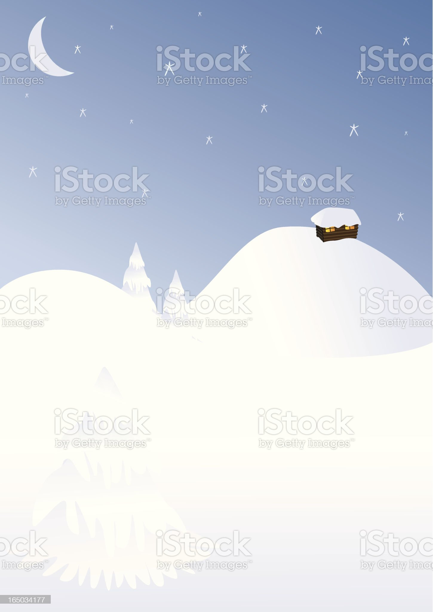 Snowy Chalet - incl. jpeg royalty-free stock vector art