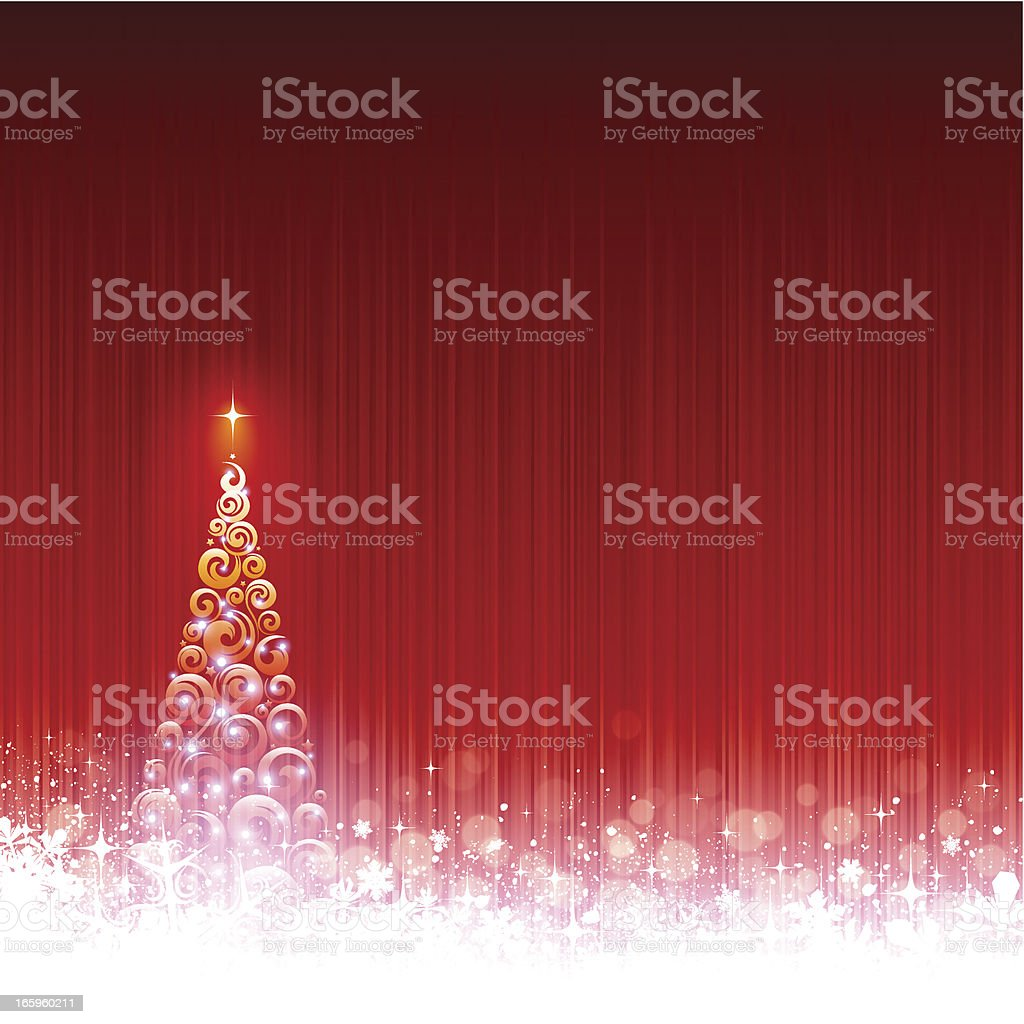 Snowy Christmas background royalty-free stock vector art