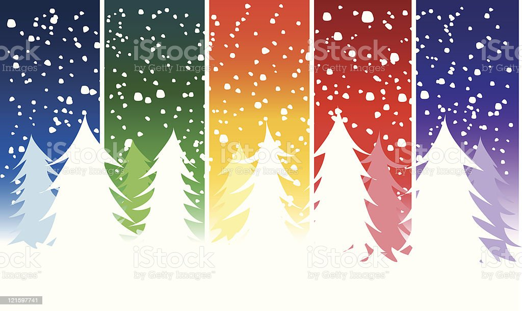 Snowy Christmas Winter Background royalty-free stock vector art