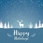 Snowy Happy holidays