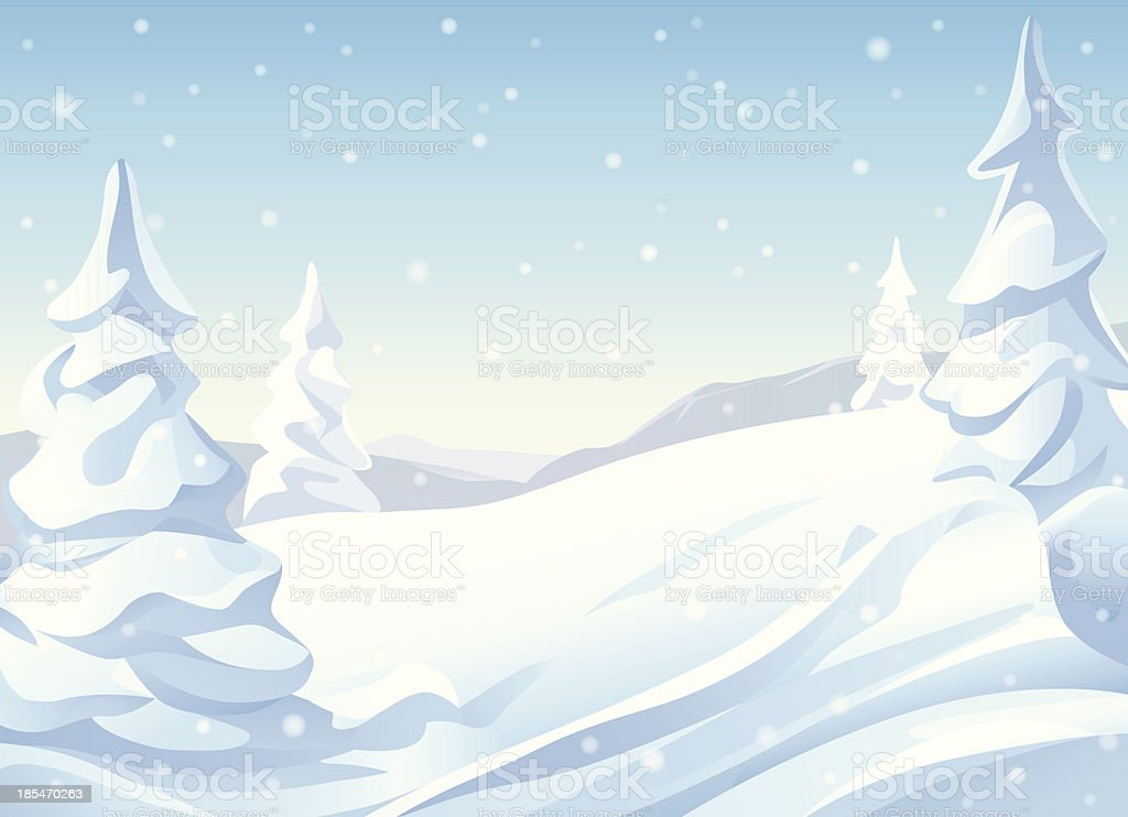 Snowy Hills royalty-free stock vector art