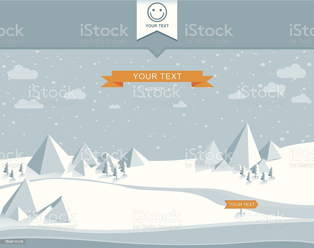 Snowy landscape royalty-free stock vector art