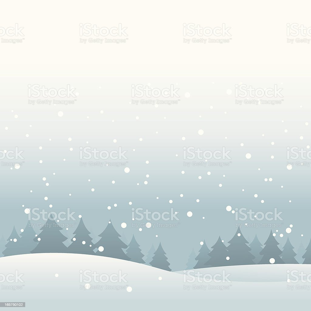 Snowy Landscape royalty-free stock vector art