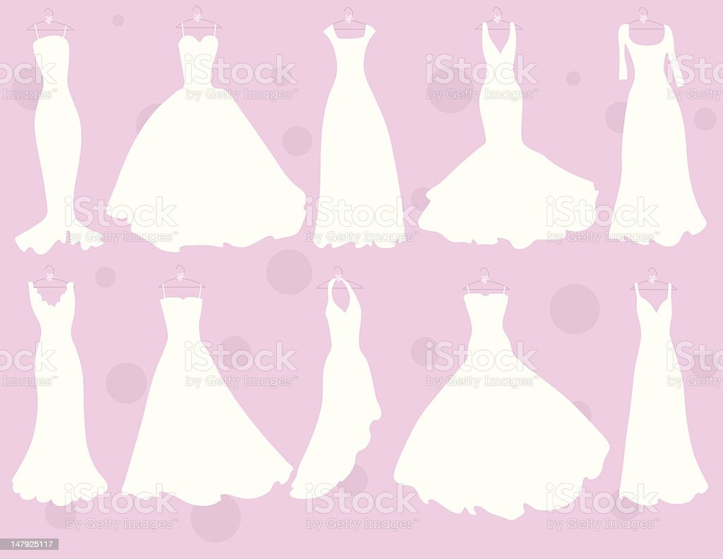 So Many Dresses vector art illustration