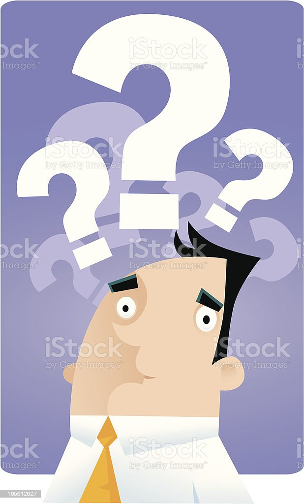 So many questions... royalty-free stock vector art