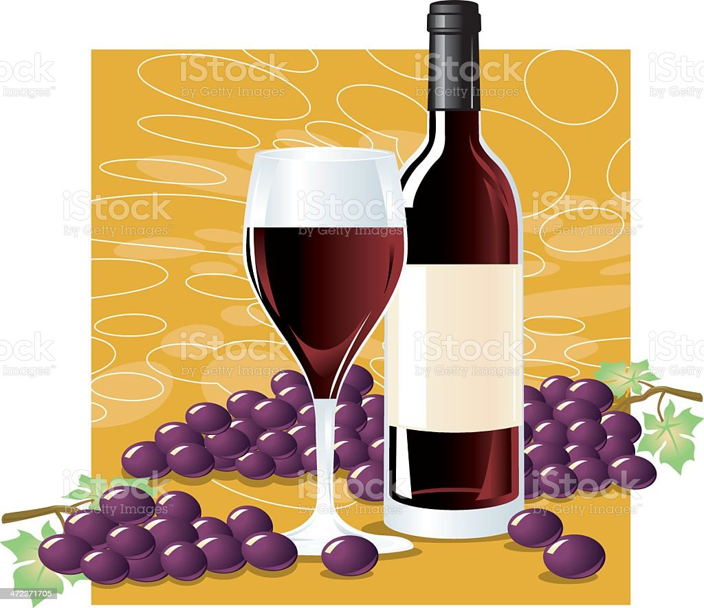 So Red Wine royalty-free stock vector art