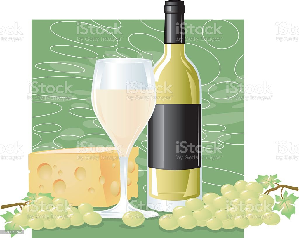 So White Wine royalty-free stock vector art