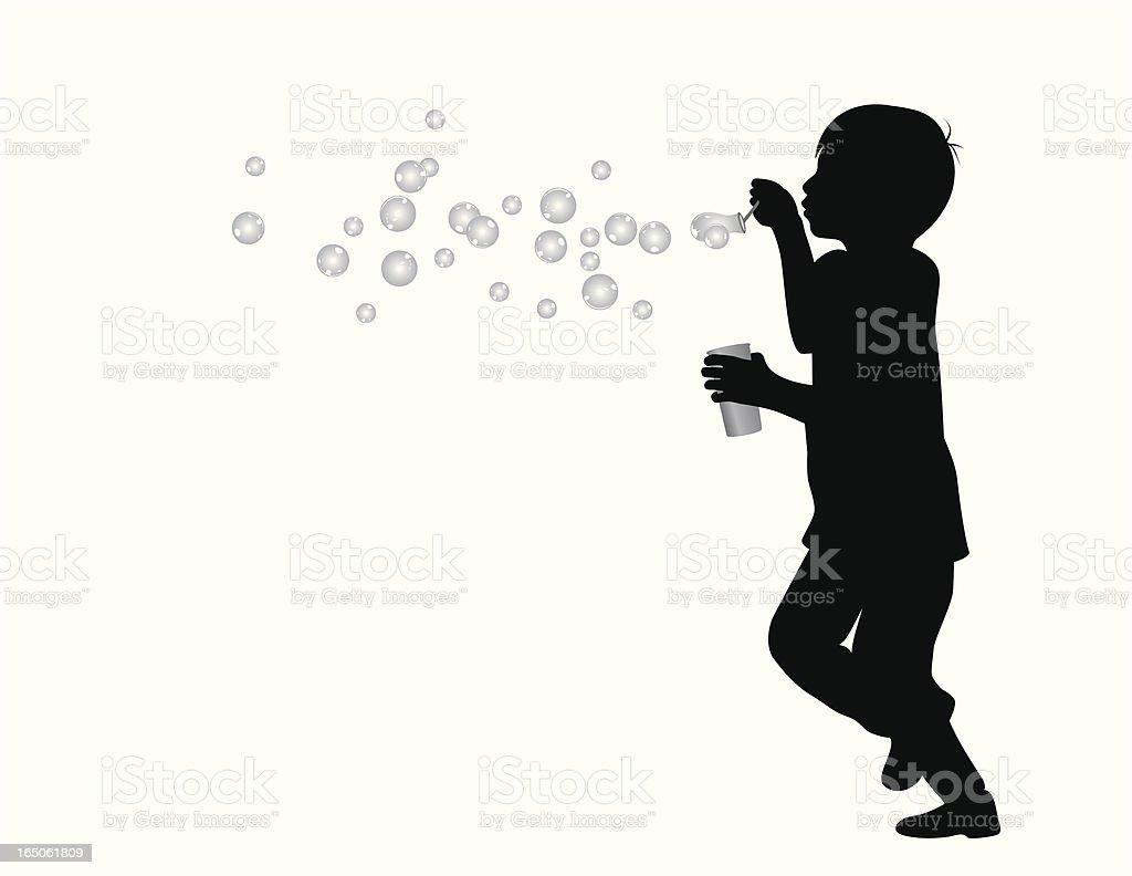 Soap Bubble Day Vector Silhouette vector art illustration