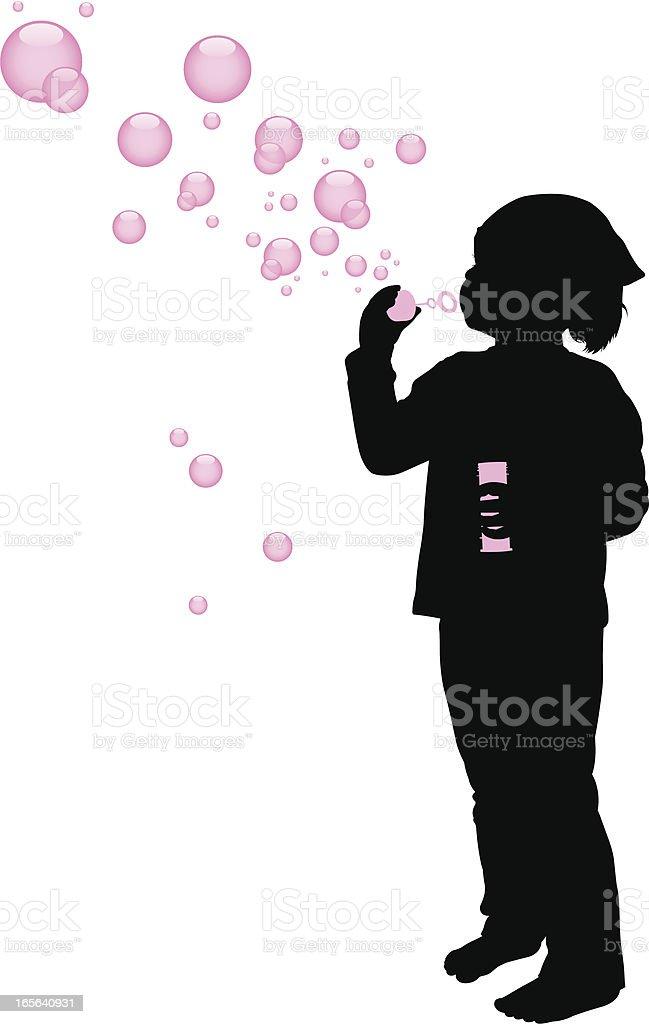 Soap Bubble Girl vector art illustration