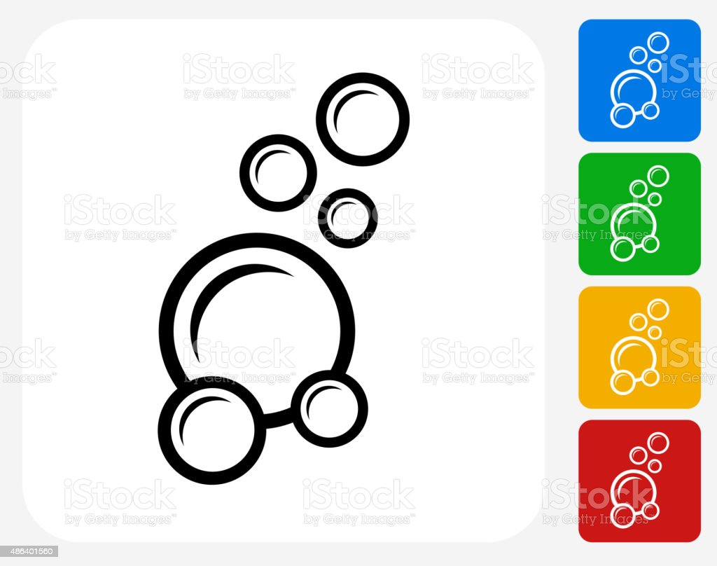 Soap Bubbles Icon Flat Graphic Design vector art illustration