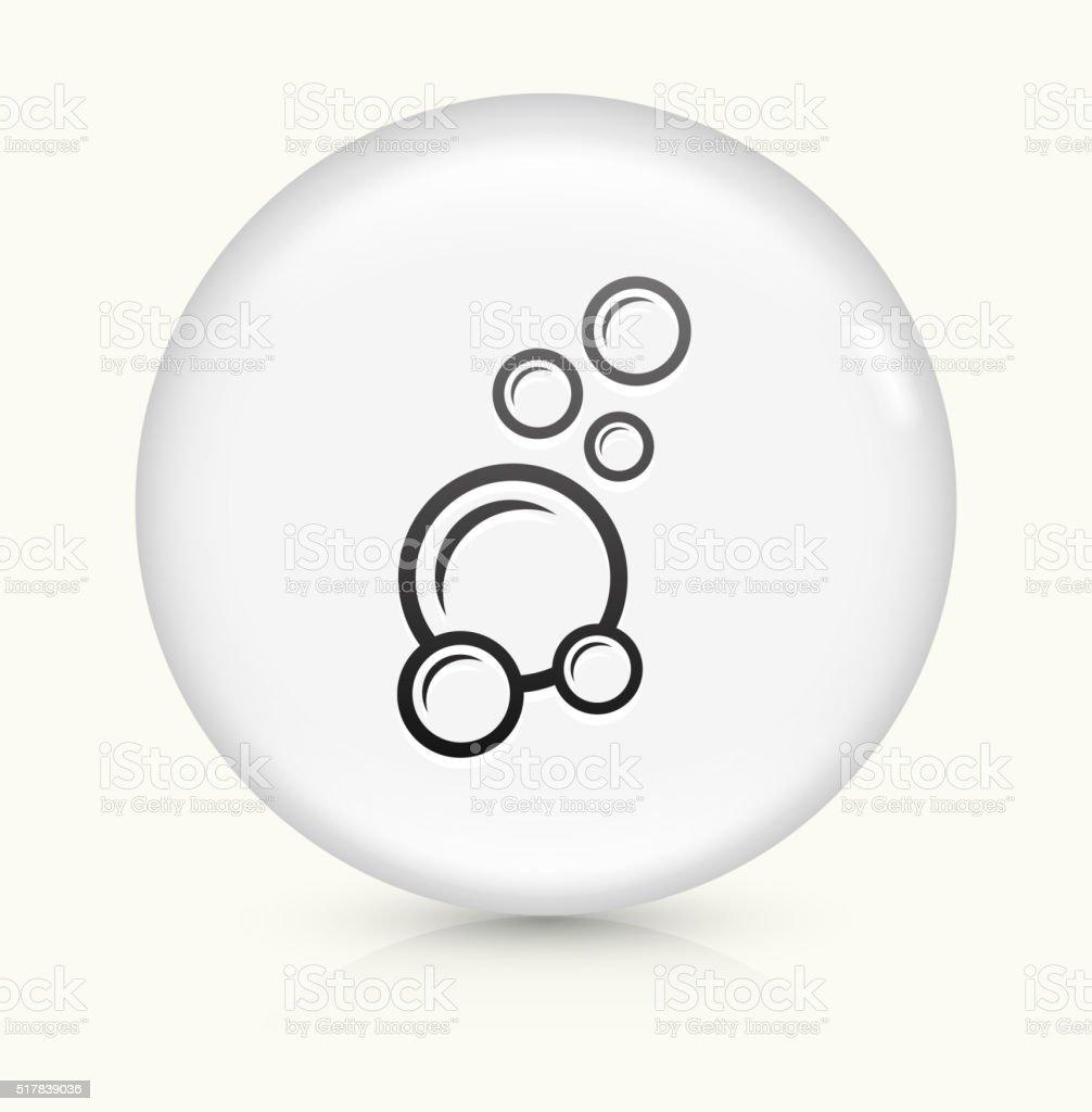 Soap Bubbles icon on white round vector button vector art illustration