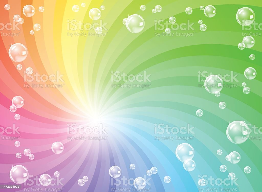 soap bubbles in front of colorful background royalty-free stock vector art
