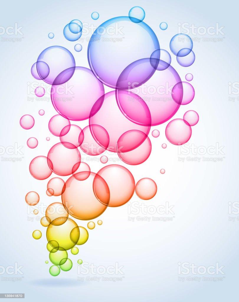 Soap bubbles royalty-free stock vector art