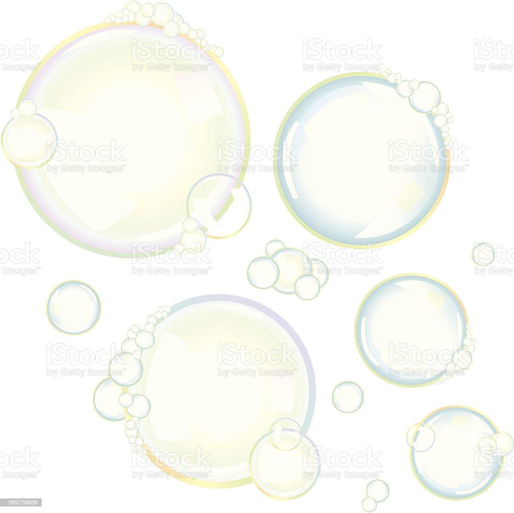 Soap Suds vector art illustration