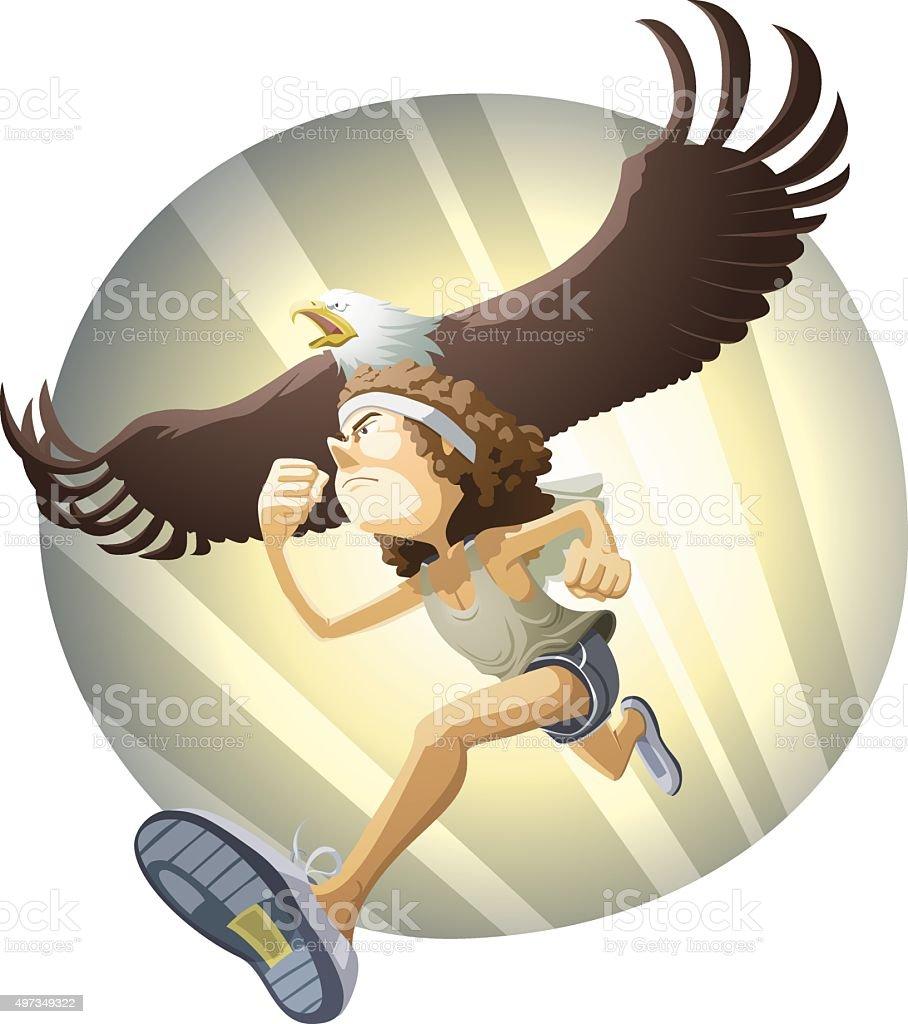 Soar on wings like eagles vector art illustration