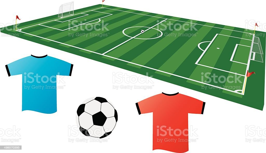 Soccer 2 royalty-free stock vector art