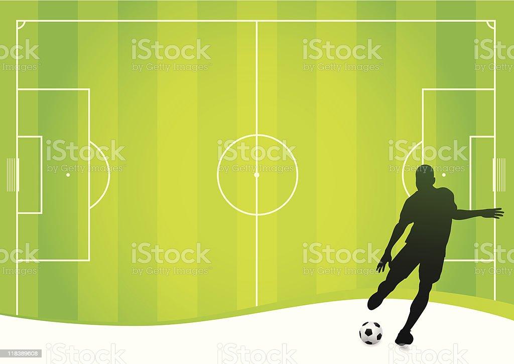 Soccer background (vector) royalty-free stock vector art