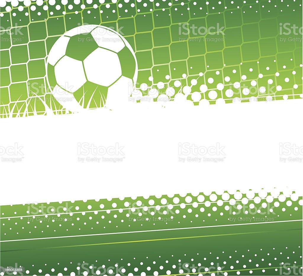 Soccer background vector art illustration