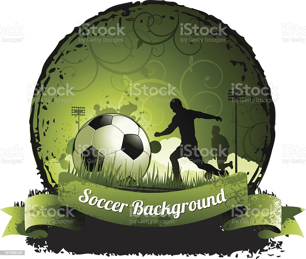 Soccer background royalty-free stock vector art