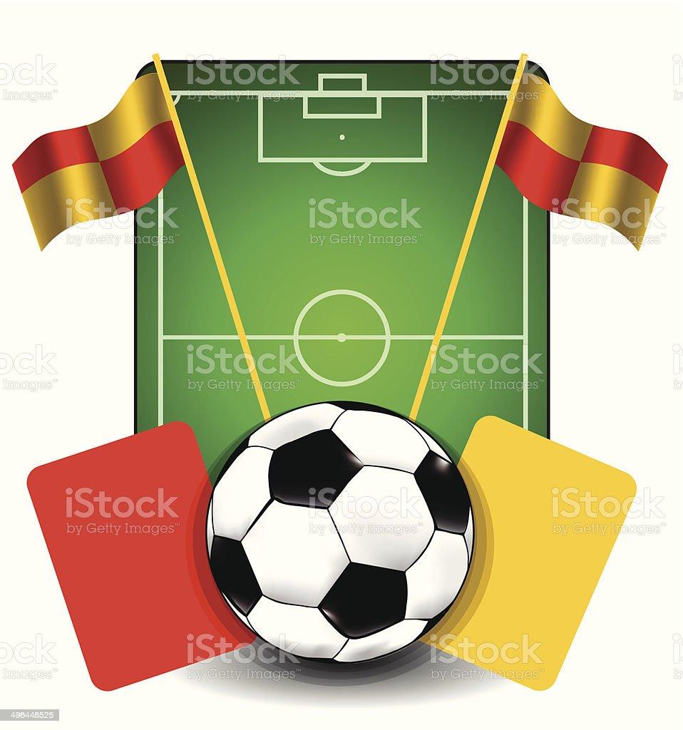 Fond de football stock vecteur libres de droits libre de droits