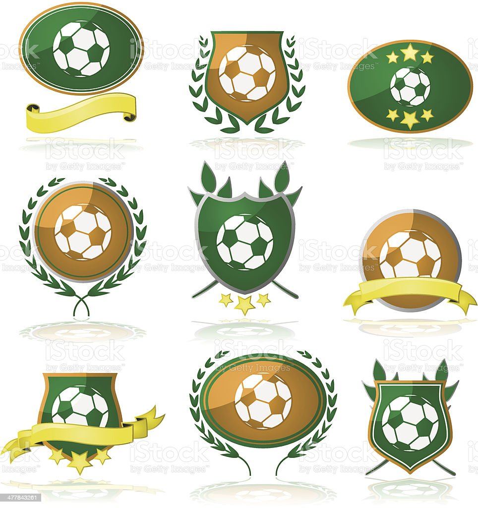 Soccer badges royalty-free stock vector art