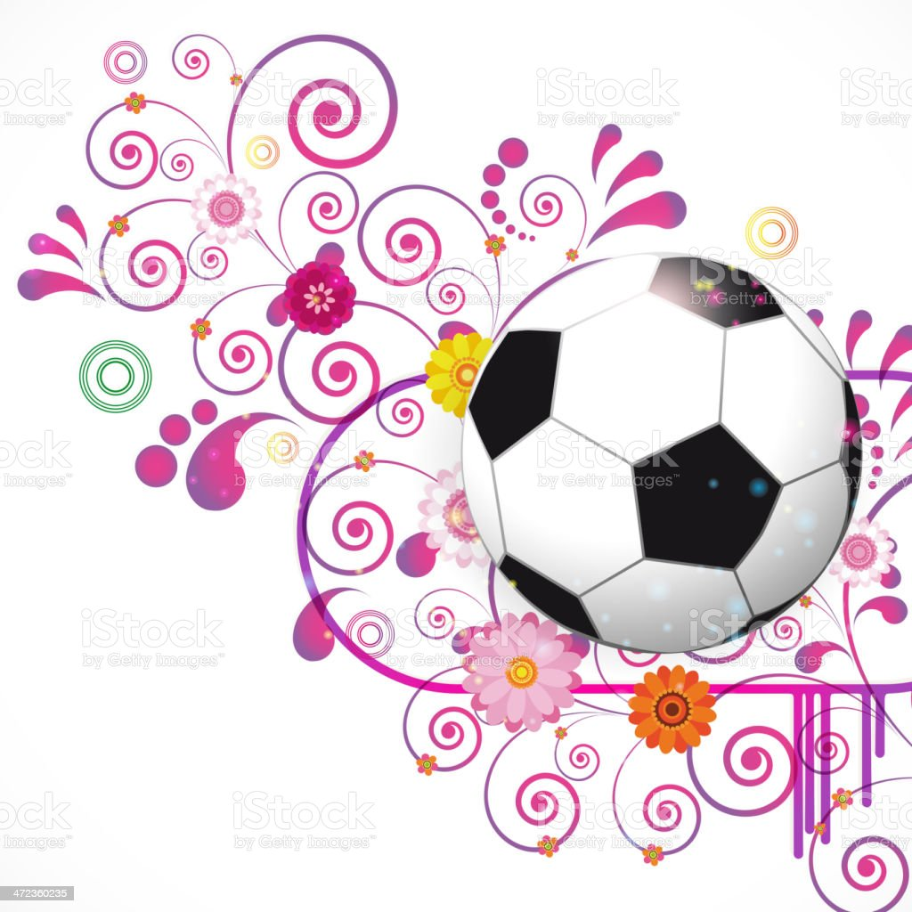 Soccer Ball Background royalty-free stock vector art