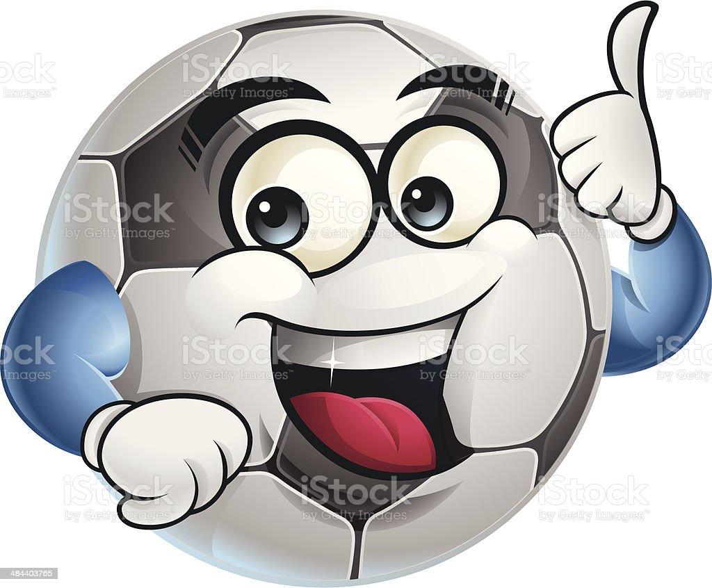 Soccer Ball Cartoon - Thumbs Up royalty-free stock vector art