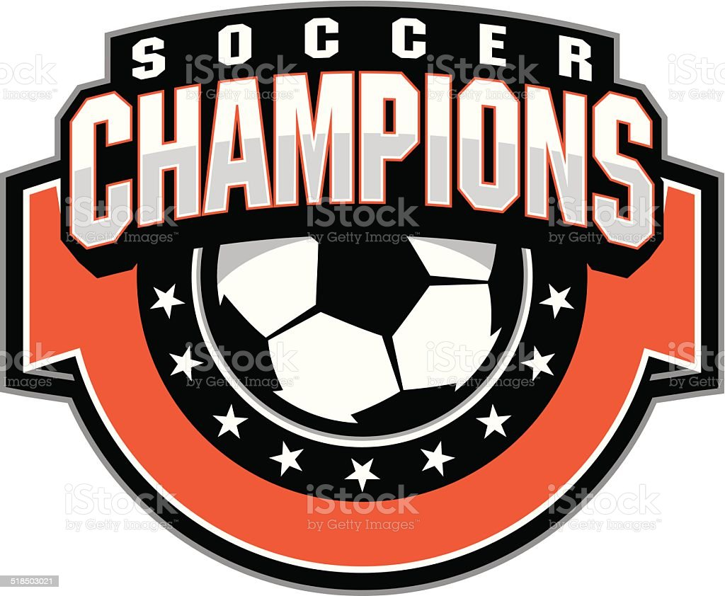 Soccer ball champions design vector art illustration