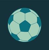 Soccer ball footbal flat