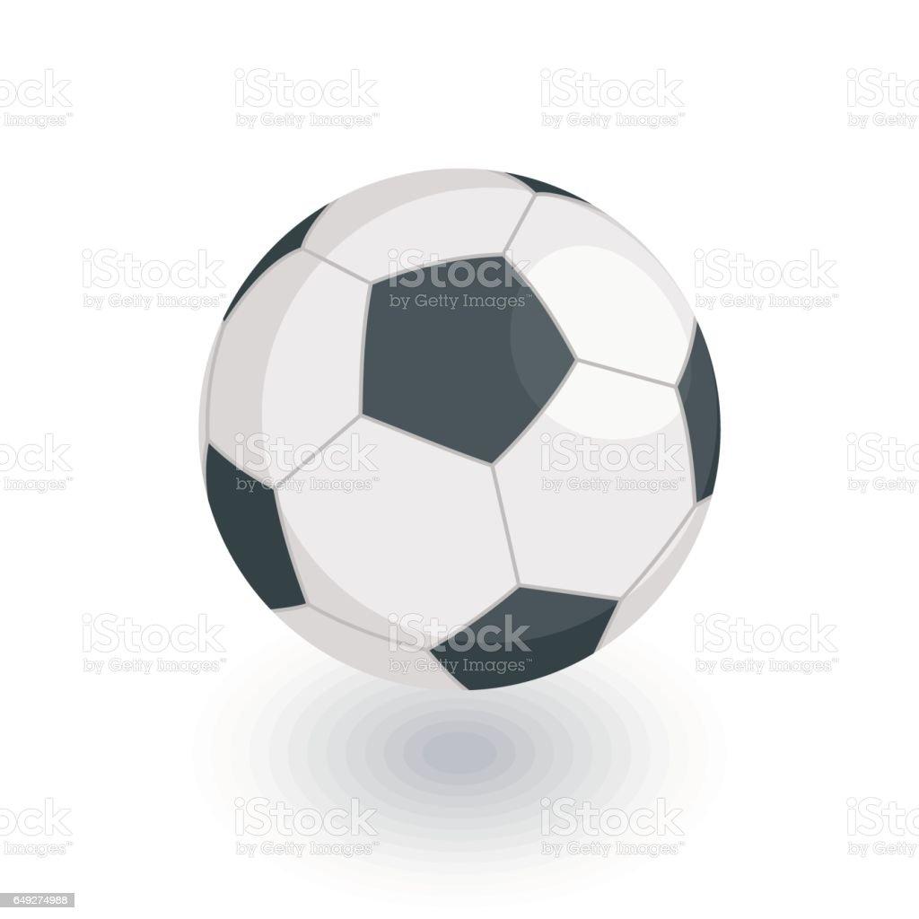 soccer ball, football isometric flat icon. 3d vector vector art illustration