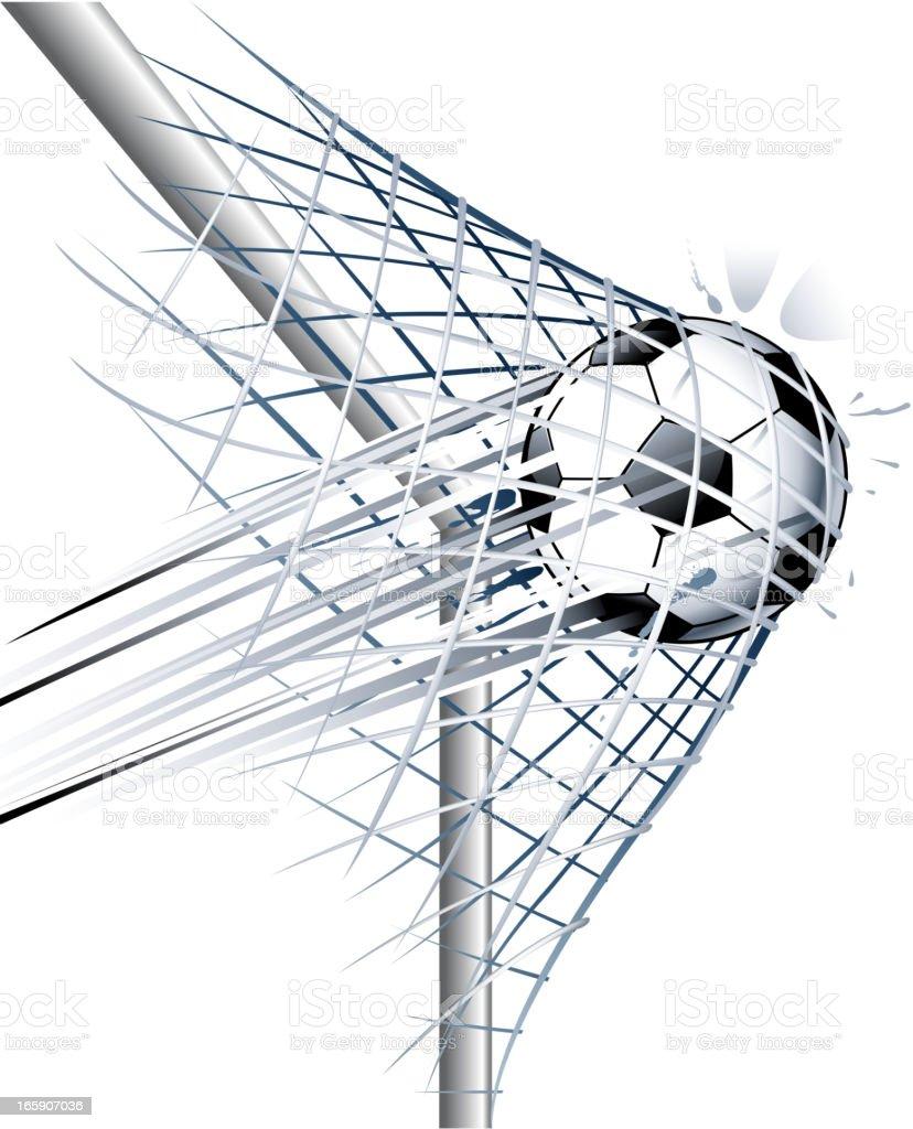 soccer ball goal vector art illustration