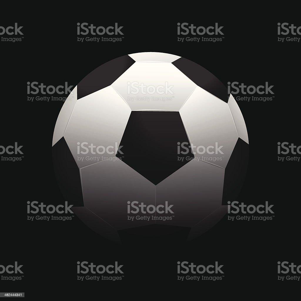 Soccer ball illustration royalty-free stock vector art