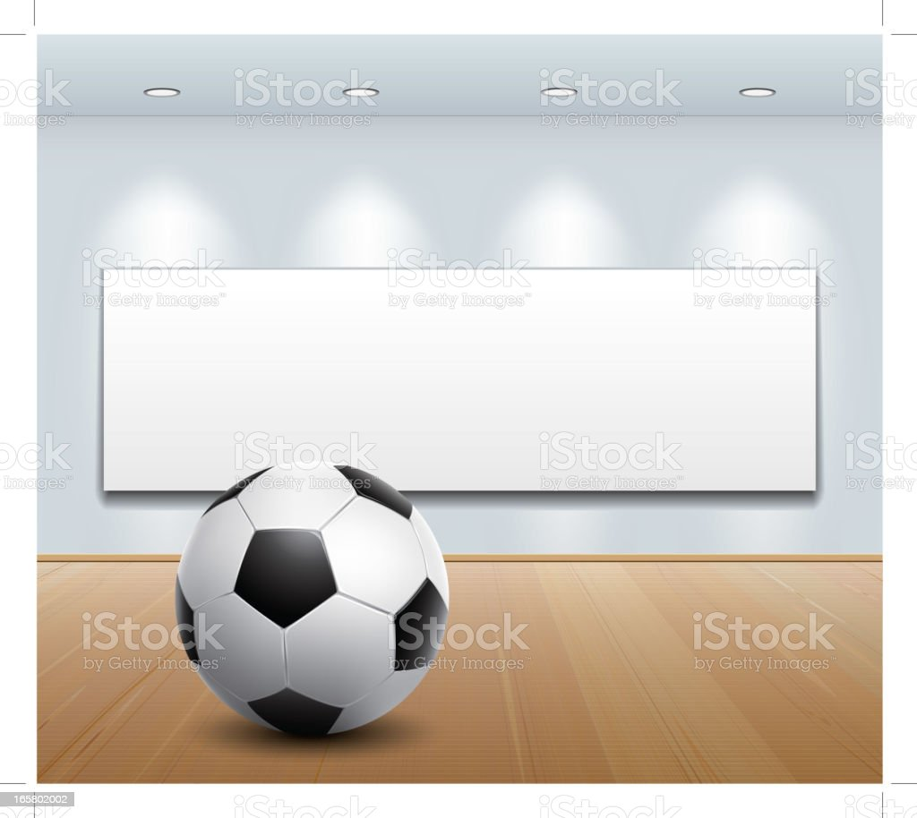 soccer ball in art gallery royalty-free stock vector art