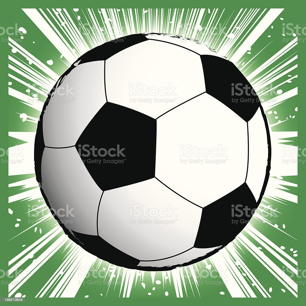 Soccer ball - Manga style vector art illustration